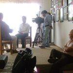 """Óscar González Guerrero (q.e.p.d) y Óscar González Loyo, fueron entrevistados para el programa que conducía Atala Sarmiento para TV Azteca, """"La Historia detrás del mito"""" que trataba sobre la Historieta Mexicana."""