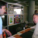 Shigeru Sekiguchi sensei del arte Gashapon, muy interesado se acercó a ver nuestros trabajos.