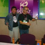 A la mañana siguiente participamos junto con Masaki Motoi en una conferencia sobre la Mercadotécnia en el Manga y en el Cómic Mexicano.