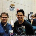 Mauricio Cosío con Scott McCloud teórico de cómics y escritor de varios libros, el más famoso Understanding Comics.