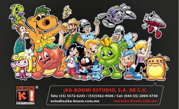 Personajes para diversas marcas diseñadas por el equipo creativo de ¡Ka-Boom! Estudio.