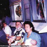 Susy Romero con John Romita Sr. y Jr. los verdaderos artistas de Spiderman.
