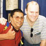 Horacio Sandoval con Erik Larsen creador de Savage Dragon.