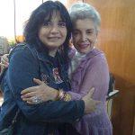 """Los K! con la excelente y primera actriz Evangelina Elizondo (q.e.p.d.), quien prestara su voz a la """"Cenicienta"""" de Disney. Aquí estamos en la ANDA cuando ella estaba en la presidencia y le obsequiamos una caricatura realizada por Mariana Moreno."""