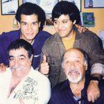 Los K! con el genial Sergio Aragonés, 1994.