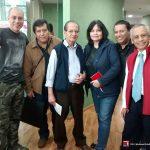 """Aquí con Yohanan Díaz Vargas y Eduardo Rojas, un día antes de la entrevista a Óscar González Loyo en el programa de """"Nueva Consciencia"""" de Tercer Milenio."""