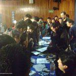 Nuestra tercera participación, UAM- Xochimilco., en Marzo del 2013. Como de costumbre, terminando la conferencia, los alumnos nos abordaron para seguir con sus preguntas y ver más de cerca nuestros portafolios.
