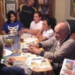 También tuvimos la fortuna de que el Maestro Ramón Valdiosera (q.e.p.d.), nos visitara en el Estudio. El maestro Valdiosera es uno de los pioneros de la Historieta Mexicana y formador de varios artistas, además de que fue un famoso diseñador de modas.