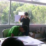 Mientras Óscar González Loyo participaba junto con Masaki Motoi en una conferencia sobre la Mercadotécnia en el Manga y en el Cómic Mexicano, Alejandro Palomares impartía el taller de creación de personajes.