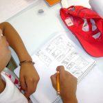 En el taller de la tarde y reforzamos la información ya que para el día siguiente durante la clausura, los alumnos deberían presentar los trabajos realizados durante el taller. Así que aprovechamos para resolver dudas sobre todo en la realización de storyboards basados en guiones técnicos.