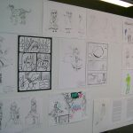 Pero ¡Ka-Boom! Estudio todavía dió una sesión de bocetos y firmas, en el área de exhibición de trabajos de los alumnos. Hicimos nuevos amigos y convivimos un rato más antes de regresar a México.