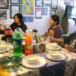Después de conocer el Estudio y de ver nuestro trabajo, Mazaki comió con nosotros una rica comida que nuestro Chef Angel Romero, le preparó especialmente para él.