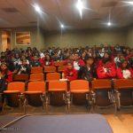 """Estuvimos en la Escuela Bachillerato Tecnológico Justo Sierra, para dar una conferencia por motivos del """"4o Año del Día del Diseño en la Semana de Especialidades"""". Nuestra conferencia se llamó """"La creación de Personajes, Universos y Contenidos""""."""