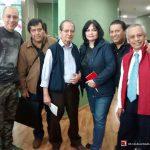 """Aquí los K! con Yohanan Díaz Vargas y Eduardo Rojas un día antes de la entrevista que le hicieron a Óscar González Loyo, en el programa de """"Nueva Consciencia"""" de Tercer Milenio, de Jaime Maussan."""
