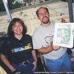 En ese momento se estaba trabajando en un cómic especial por llegar al número 50, y la historia principal de ese número la trabajó Óscar, Terry nos mostraba los avances en color.