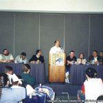 Como miembro del staff de Bongo y artista de los Simpson, Óscar González Loyo participó en una conferencia durante una Comic Con de San Diego.