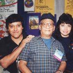 Óscar González Loyo y Susy Romero con Alfredo Alcalá (q.e.p.d.) dibujante de Conan y Star Wars.