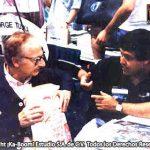 Óscar González Loyo con Fred Ladd quien tiene los derechos de Astroboy, Gigantor y Kimba para EUA. El fue el introductor del Manga y del Anime en Estados Unidos.