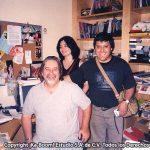 Aquí estamos con Matt Groening en su oficina.