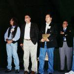 Aquí Óscar González Loyo tuvo el honor de ganar el premio Eisner, junto con Sergio Aragonés y atrás el mismísimo Will Eisner (q.e.p.d.)