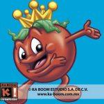 Realizamos la mascota de Consomate el Rey del Tomate para Nestlé, en este caso Óscar González Loyo fue el que diseño el personaje y Tonatiuh Rocha puso el color.