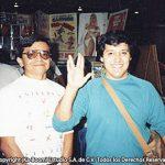 Aquí Óscar González Loyo, con el maestro Alberto Maldonado, genial historietista Mexicano.
