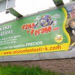 Realizamos las mascotas del centro de entretenimiento Misión Fantasti-k, que se encontraba en Interlomas, el parque era temático sobre espías.
