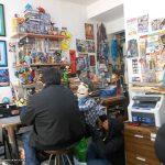 Recibimos la visita en el Estudio de Miguel Cruz Ramírez y de Artemio Eureka, para una entrevista de un programa de TV por internet de Eurekaimágen Imágen, estuvo muy divertido, y les damos las gracias a los amigos de esta casa productora por su interés en nuestro trabajo.