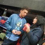 Sebastian Gracida, de Tycoon, platicando con Susy Romero Medina.