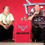 Juan Carlos Cedeño y John Lasseter, mente creativa de Pixar y el nuevo Disney.