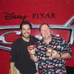 Mauricio Cosío y John Lasseter, mente creativa de Pixar y el nuevo Disney.