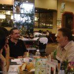 Con nuestro querido amigo Pepe Romay (Q.E.P.D.), actor, productor, director, fotógrafo, musicalizador, editor y guionista de cine. Aquí cenamos con el en Perisur, una semana antes de que falleciera nuestro buen amigo Pepito.