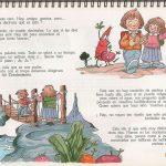 """Óscar González Loyo realizó ilustraciones para el libro """"La llave de la alimentación"""" para Nestlé."""