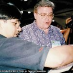 Horacio Sandoval con Mike Carlin, editor en DC Comics.