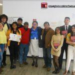 Con el equipo de trabajo de la Doctora María Cristina Rosas González, muy amables todos.