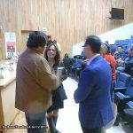 Aquí platicando con Álvaro Cueva, excelente amigo de ¡Ka-Boom! Estudio, y la periodista Elisa Alanis, unos minutos antes de la presentación.