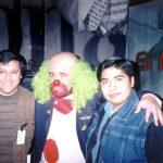 """Con Brozo cuando nos entrevistó en su extinto programa """"El Mañanero"""" del canal 40."""
