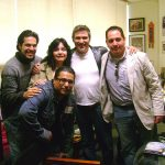 Aquí estamos con Pedro Damián en Televisa San Ángel, cuando realizábamos el cómic de RBD.