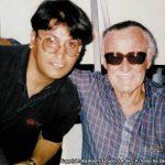 Horacio Sandoval con el creador conceptual de casi todos los superhéroes de Marvel, el Maestro Stan Lee.
