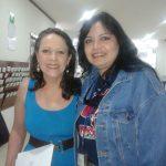 Susy Romero con la simpática actriz Mexicana Nora Velázquez, quien interpreta a la mojigata Chabela o Chabelita.